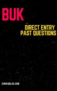 BUK Direct Entry Past Questions
