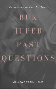 BUK JUPEB Past Questions