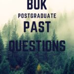 Postgraduate Past Questions For Bayero University Kano
