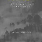 FUTYOLA Pre-degree Past Questions And Answers