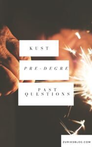 KUST Pre-degree Past Questions