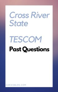 Cross River State TESCOM Past Questions