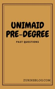 UNIMAID Pre-degree Past Questions