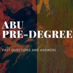 ABU Pre-degree Past Questions And Answers