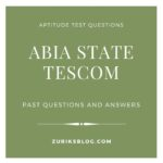 Abia State TESCOM Past Questions And Answers