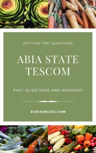 Abia State TESCOM Past Questions