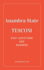 Anambra State TESCOM Past Questions