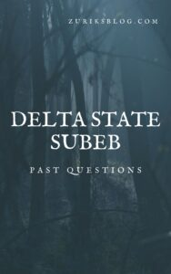 Delta State SUBEB Past Questions