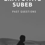 Ekiti State SUBEB Screening Test Past Questions And Answers