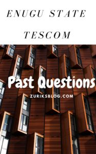 Enugu State TESCOM Past Questions