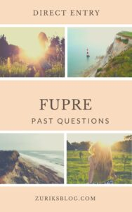 FUPRE Direct Entry Past Questions