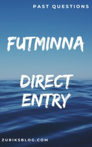 FUTMINNA Direct Entry Past Questions