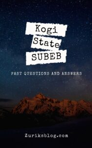 Kogi State SUBEB Past Questions