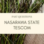 TESCOM Past Questions And Answers For Nasarawa State