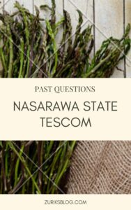 Nasarawa State TESCOM Past Questions