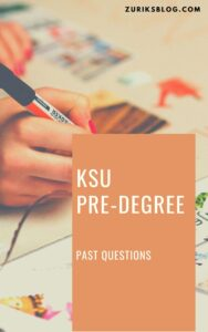 KSU Pre-degree Past Questions