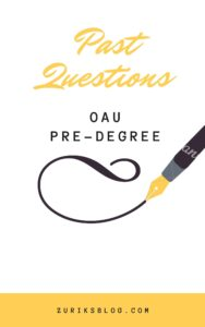 OAU Pre-degree Past Questions