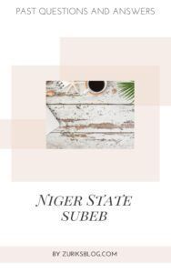 Niger State SUBEB Past Questions