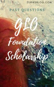 Glo Foundation Scholarship Past Questions