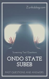 Ondo State SUBEB Past Questions