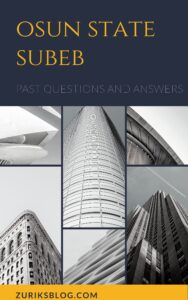 Osun State SUBEB Past Questions