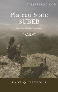 Plateau State SUBEB Past Questions