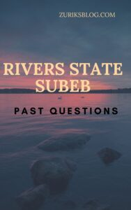 Rivers State SUBEB Past Questions