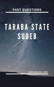 Taraba State SUBEB Past Questions