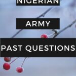 The Nigerian Army Screening Test Past Questions