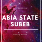 Abia State SUBEB Past Questions And Answers