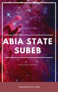 Abia State SUBEB Past Questions
