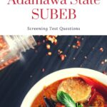SUBEB Past Questions And Answers For Adamawa State