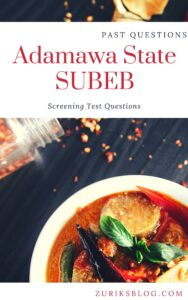 Adamawa State SUBEB Past Questions