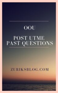 OOU Post UTME Past Questions