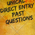 UNICAL Direct Entry Past Questions And Answers E-book