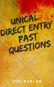 UNICAL Direct Entry Past Questions