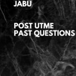 Joseph Ayo Babalola University Post UTME Past Questions – Free Download Link