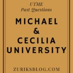 Michael And Cecilia Ibru University Post UTME Past Questions