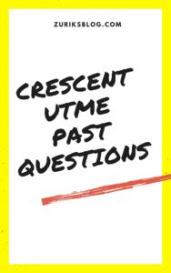Crescent University Post UTME Past Questions