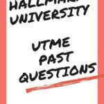 Hallmark University Post UTME Past Questions – Free Download Link