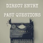 FUGUS Direct Entry Past Questions And Answers – How To Download