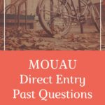 MOUAU Direct Entry Past Questions And Answers – Download For Free