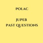 JUPEB Past Questions For The Nigeria Police Academy Wudil