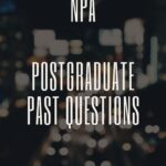Nigeria Police Academy Wudil Postgraduate Past Questions And Answers