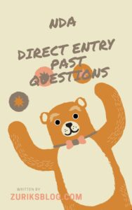 NDA Direct Entry Past Questions