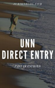 UNN Direct Entry Past Questions