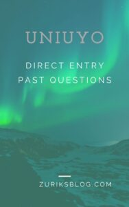 UNIUYO Direct Entry Past Questions