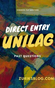 UNILAG Direct Entry Past Questions