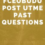 Federal College Of Education Obudu Post UTME Past Questions