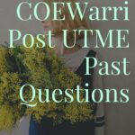 College Of Education Warri Post UTME Past Questions